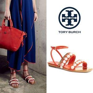 🆕TORY BURCH Seashell Ankle-Wrap Sandal FLOP